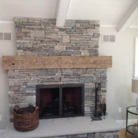 Beautiful Hickory Fireplace Mantel