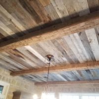 rough wooden ceiling beams