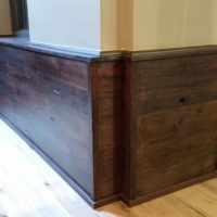 Reclaimed wood wainscoting