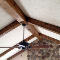 Faux ceiling beams