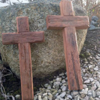 Reclaimed cherry crosses