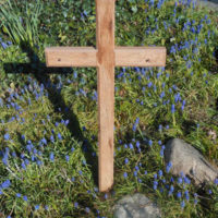 Reclaimed wood cross