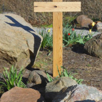Chestnut reclaimed wood cross