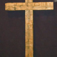 Large reclaimed wood cross