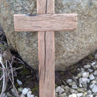 Reclaimed oak cross