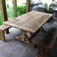 Rustic indoor/outdoor table and benches